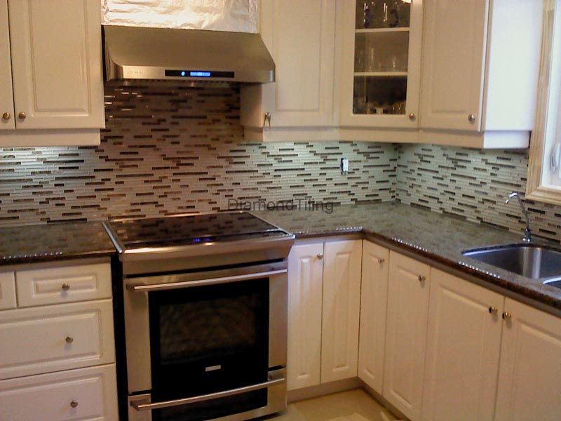 backsplash toronto custom tile backsplash modern kitchen toronto